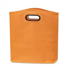 5 Grands sacs shopping oranges en polyester