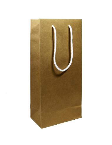 20 Sacs boutique luxe kraft brun 18 + 12 x 38 cm