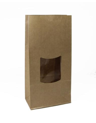 700 Sachets SOS à fenêtre en kraft brun 13+7x23 cm