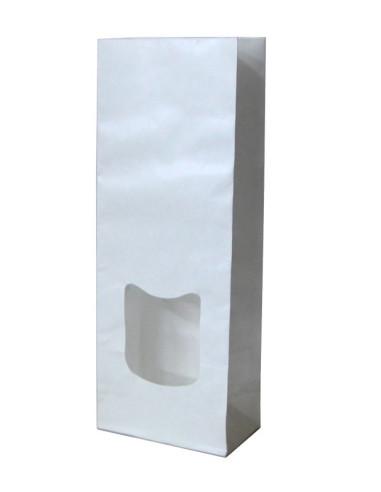 250 Sachets SOS à fenêtre en kraft blanc doublé PP