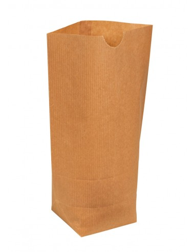 Sacs écornés n°8 kraft brun doublé 1kg farine