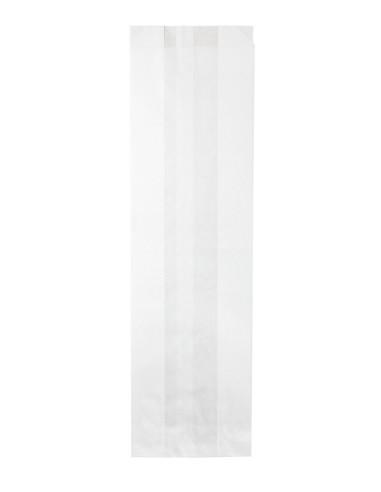 Sacs à sandwich en papier kraft blanc 10 + 6 x 36 cm